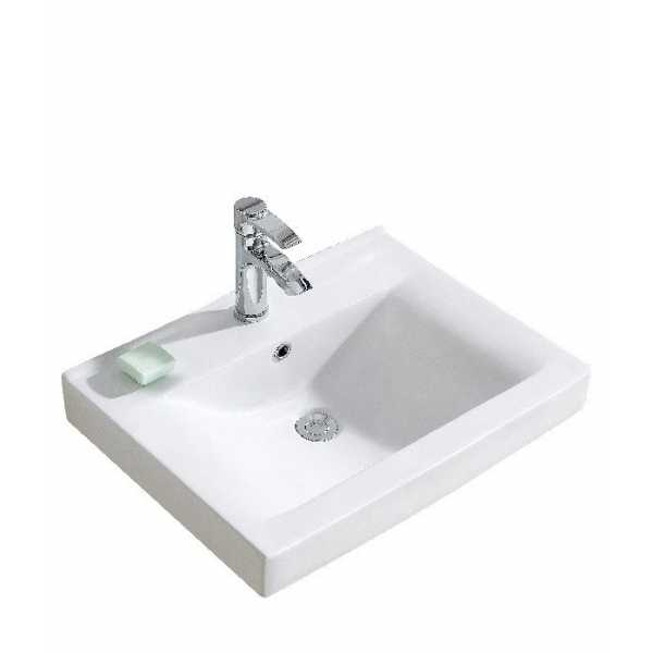 Fine Fixtures CT2318W1 23 x 18 Vitreous Chine Top Single Hole