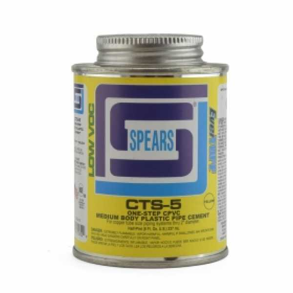 EverTUFF Step-1 CPVC CTS Cement w/ Dauber, Med-Body Fast-Set, Yellow, 8oz