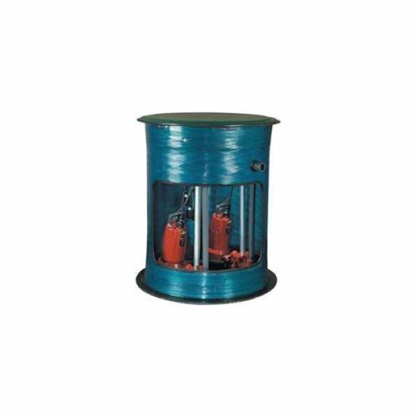 """Liberty Pumps Liberty Pump P382XLE102, 1HP Sewage Pump System, 208/230v, 2"""" Disch, 24"""" x 24"""" Basin"""