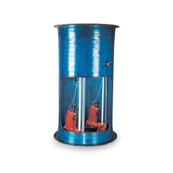 """Liberty Pumps D3684LSG202-C-24 2 HP Single Stage Grinder Package - 208-230V,  36"""" x 84"""" Basin - 24"""" Discharge Depth"""