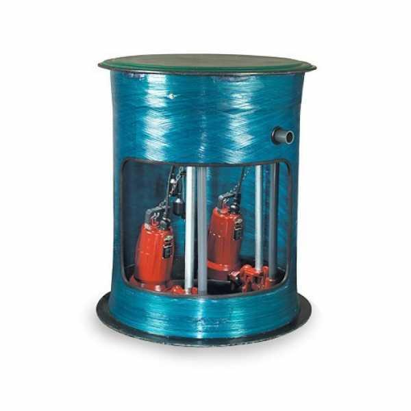 "Liberty Pumps D3696LSGX202-C-48 2 HP Single Stage Grinder Package - 208-230V, 36"" x 96"" Basin - 48"" Discharge Depth"