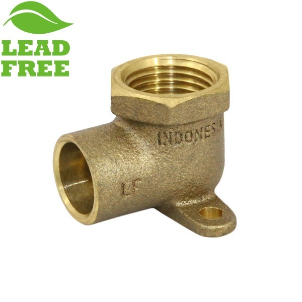 "Matco Norca DE-0303LF 1/2"" Female NPT x 1/2"" C-C Brass Drop Ear, Lead Free"
