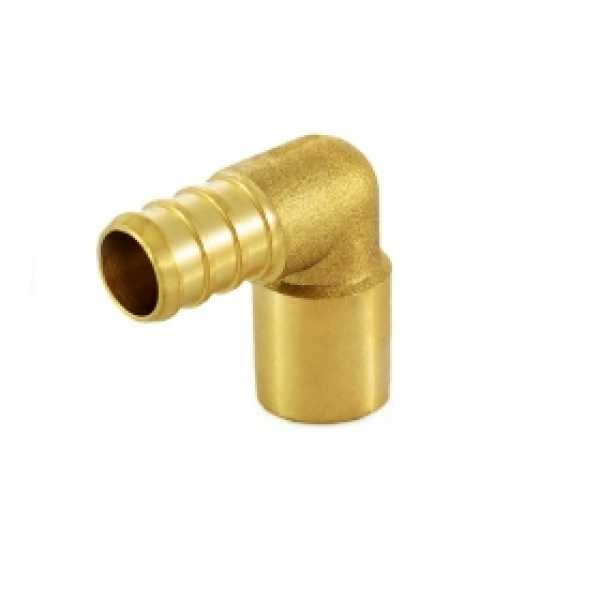 "1/2"" PEX x 1/2"" Copper Fitting Elbow, Lead-Free"