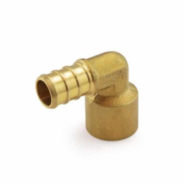 "1/2"" PEX x 1/2"" Copper Pipe Elbow (Lead-Free)"