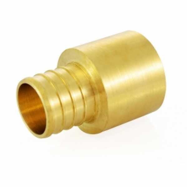 """1"""" PEX x 1"""" Copper Pipe Adapter, Lead-Free"""