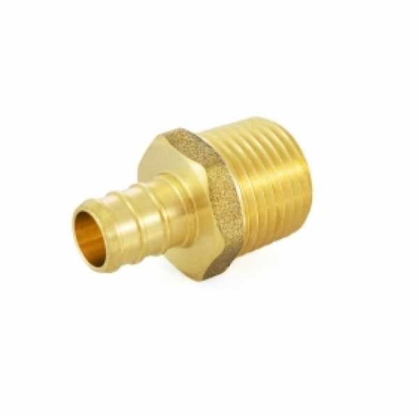 "1/2"" PEX x 1/2"" Male Threaded Adapter, Lead-Free"