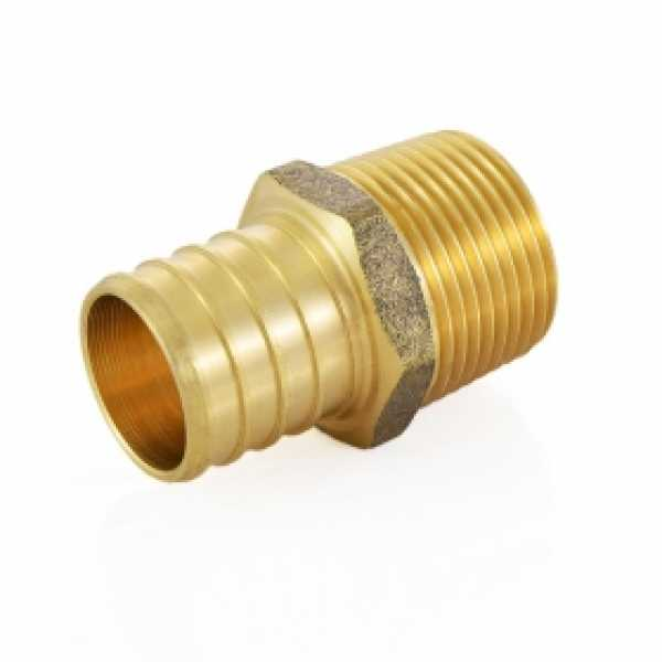 "1"" PEX x 3/4"" Male Threaded Adapter, Lead-Free"