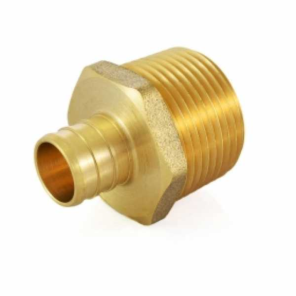 "3/4"" PEX x 1"" Male Threaded Adapter, Lead-Free"
