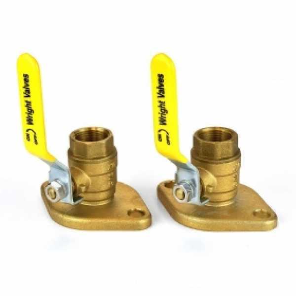 """3/4"""" Threaded Isolator Flange Valves (pair)"""