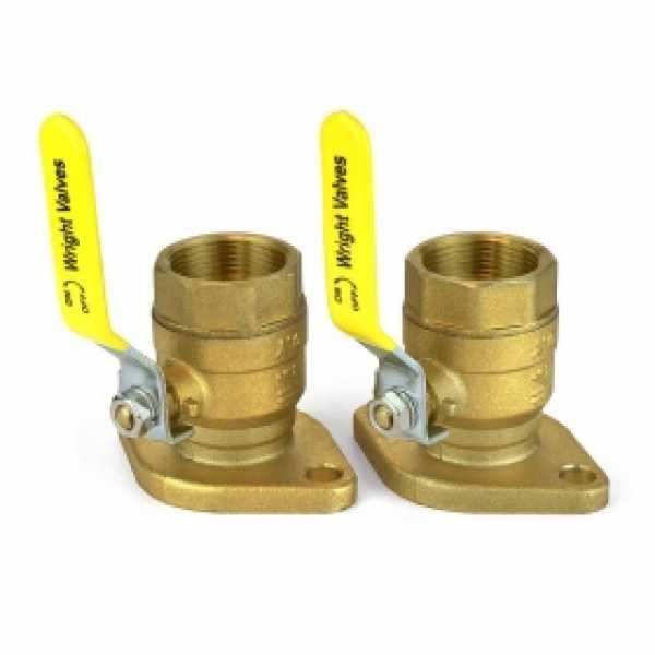 """1-1/4"""" Threaded Isolator Flange Valves (pair)"""