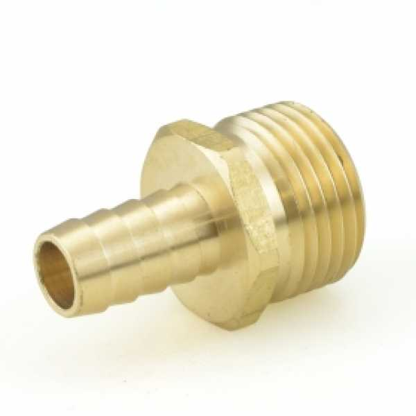 "3/4"" MGH x 1/2"" Hose Barb Brass Adapter"