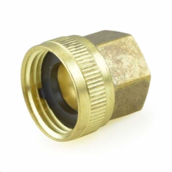 """3/4"""" FGH x 1/2"""" FIP Swivel Brass Adapter"""
