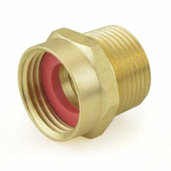 "3/4"" FGH x 3/4"" MIP (tapped 1/2"" FIP) Brass Adapter"