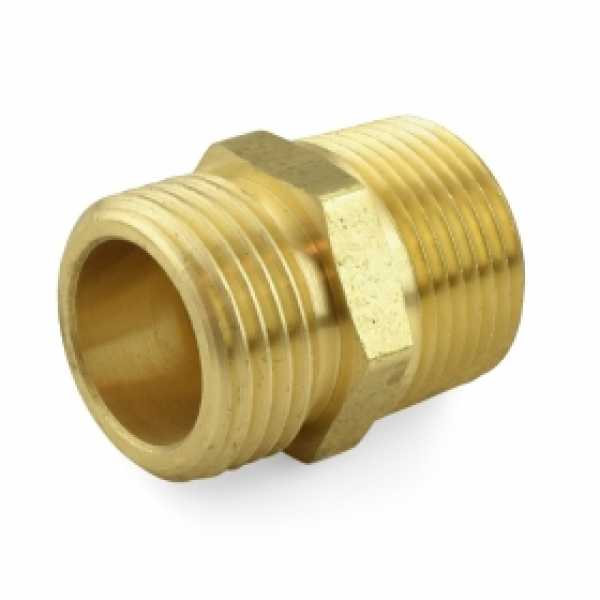 "3/4"" MGH x 3/4"" MIP (tapped 1/2"" FIP) Brass Adapter, Lead-Free (Bag of 25)"