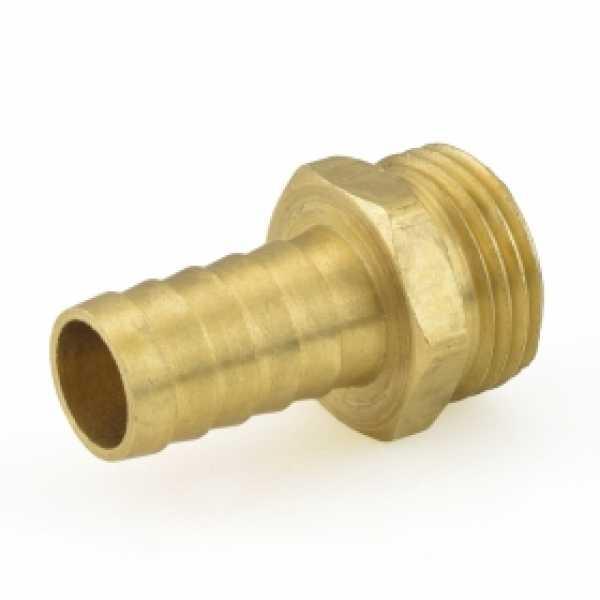 """3/4"""" MGH x 5/8"""" Hose Barb Brass Adapter"""