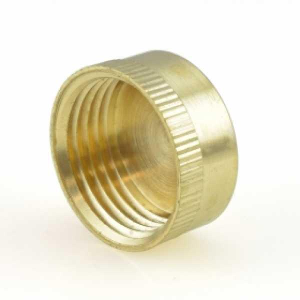 """3/4"""" Garden Hose Brass Cap"""
