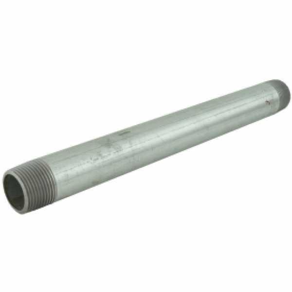 "1"" x 12"" Galvanized Steel Pipe Nipple"