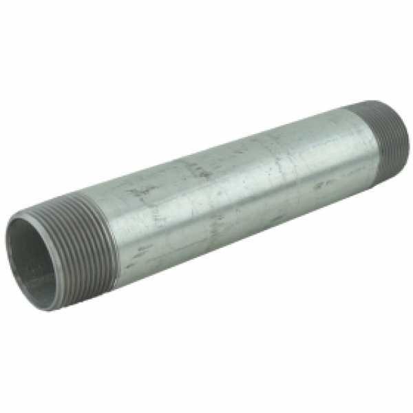 "1-1/4"" x 8"" Galvanized Steel Pipe Nipple"