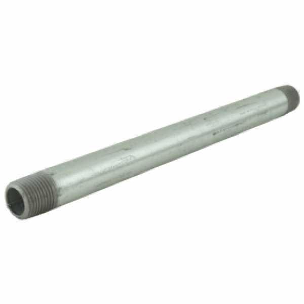 "1/2"" x 10"" Galvanized Steel Pipe Nipple"