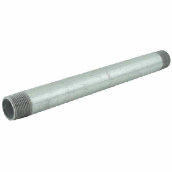 "3/4"" x 10"" Galvanized Steel Pipe Nipple"