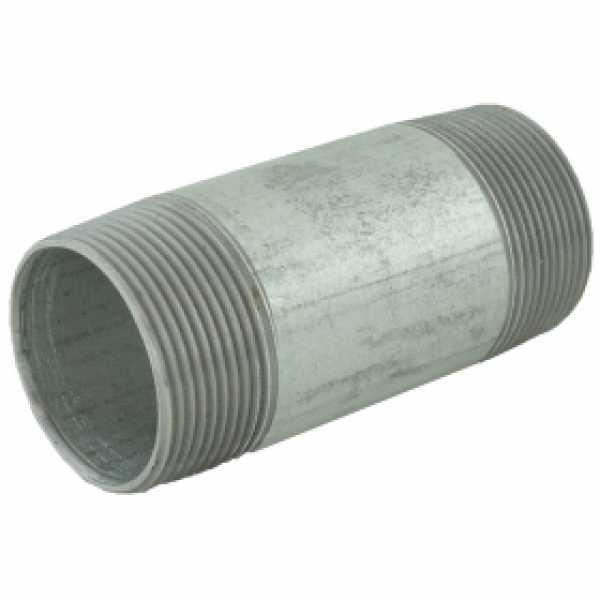 "1-1/2"" x 4"" Galvanized Steel Pipe Nipple"