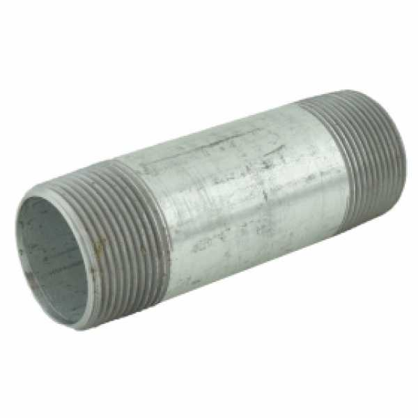 "1-1/4"" x 4-1/2"" Galvanized Steel Pipe Nipple"
