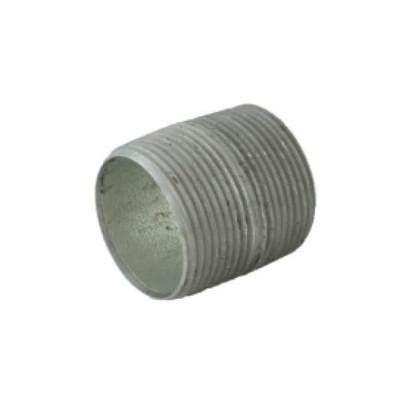"1-1/4"" x Close Galvanized Steel Pipe Nipple"