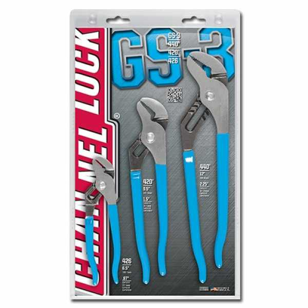 Channellock gs-3 3pc Tongue & Groove Set
