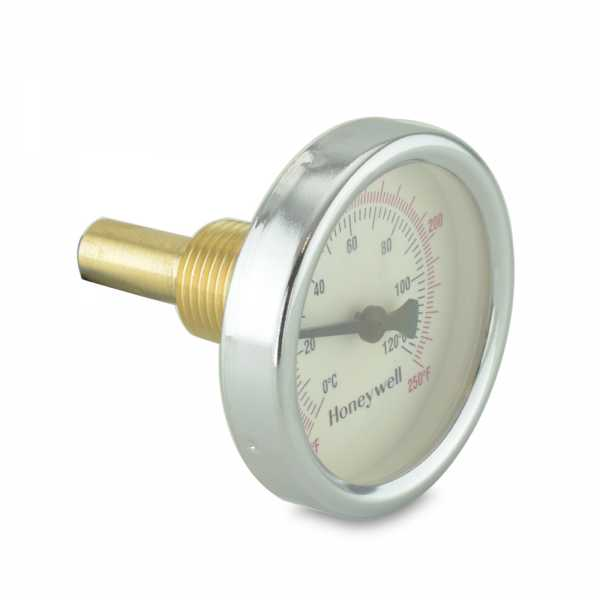 "Thermometer, 1/2"" NPT, 2-1/2"" Dial, 32-250F, 1-1/2"" stem"