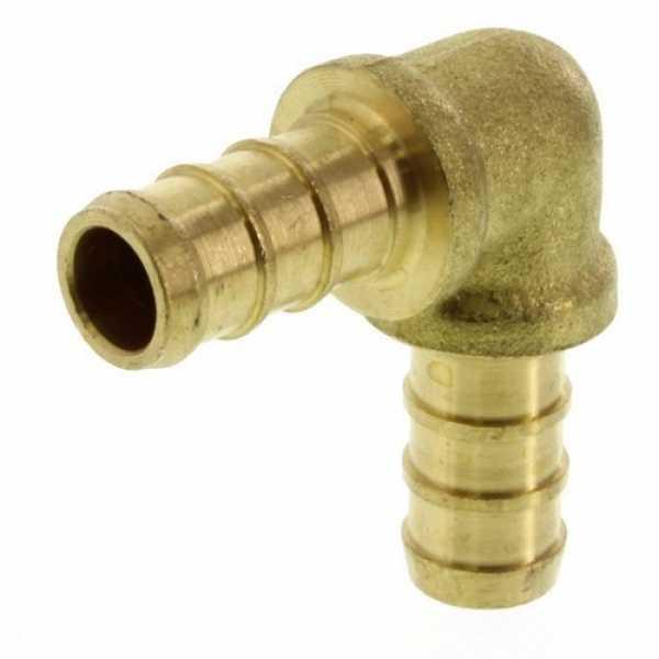 3/8' PEX x 3/8' PEX Brass Elbow (Lead Free)