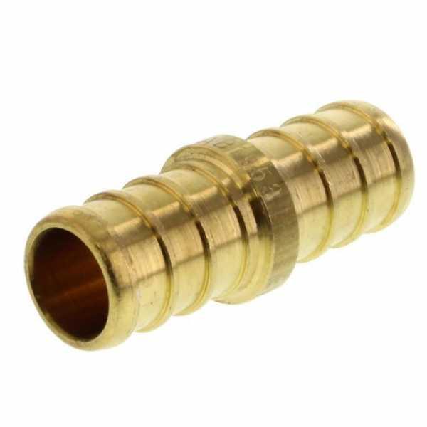 1/2' PEX x 1/2' PEX Brass Coupling (Lead Free)