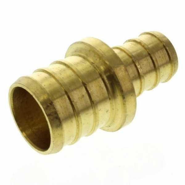 1/2' PEX x 3/4' PEX Brass Coupling (Lead Free)
