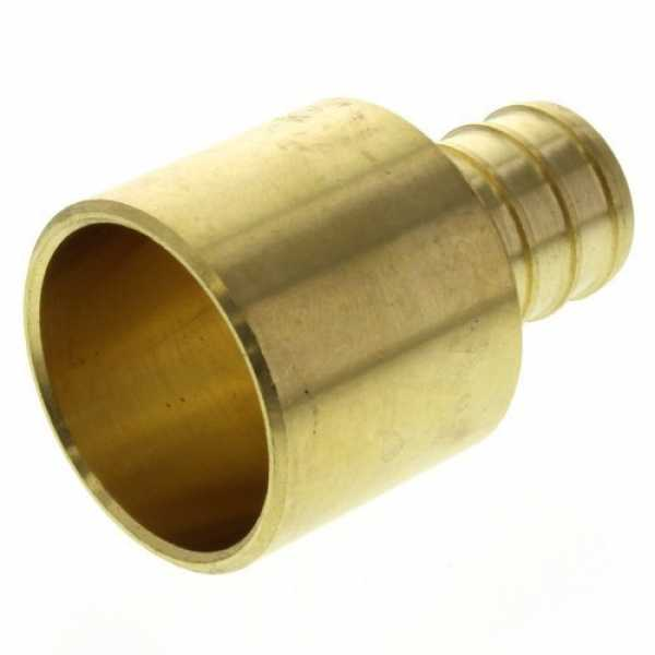 5/8' PEX x 3/4' Copper Pipe Brass Adapter (Lead Free)