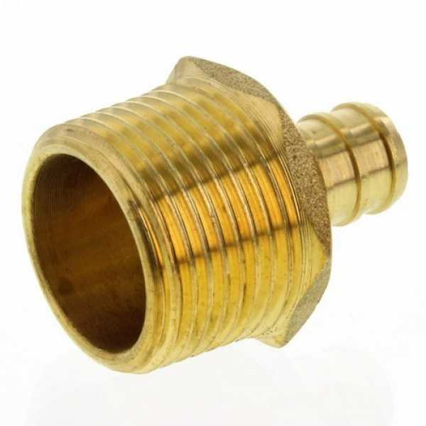 "Rifeng 1234PEXNMALF 1/2"" PEX x 3/4"" NPT Brass Male Adapter (Lead Free)"