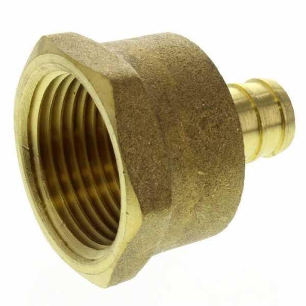 1/2' PEX x 3/4' NPT Brass Female Adapter (Lead Free)