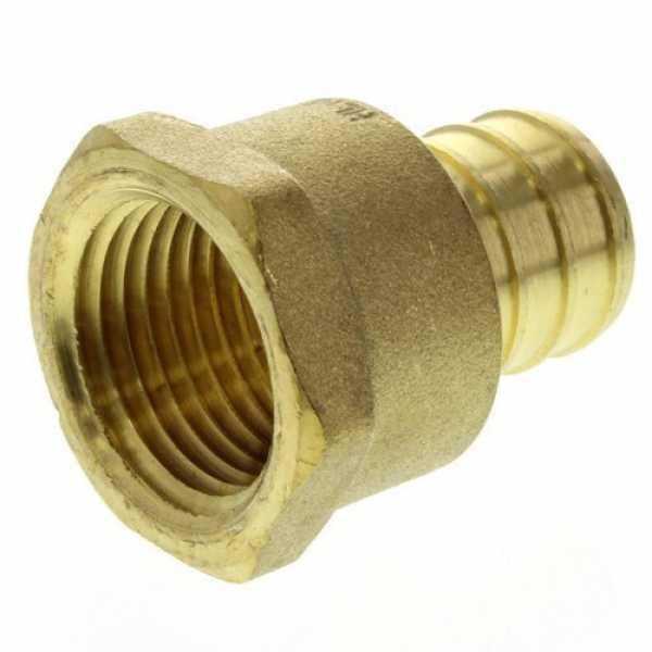 3/4' PEX x 1/2' NPT Brass Female Adapter (Lead Free)