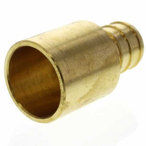 1/2' PEX x 3/4' Copper Fitting Brass Adapter