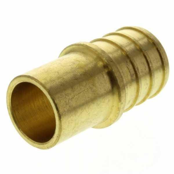 3/4' PEX x 1/2' Copper Fitting Brass Adapter (Lead Free)