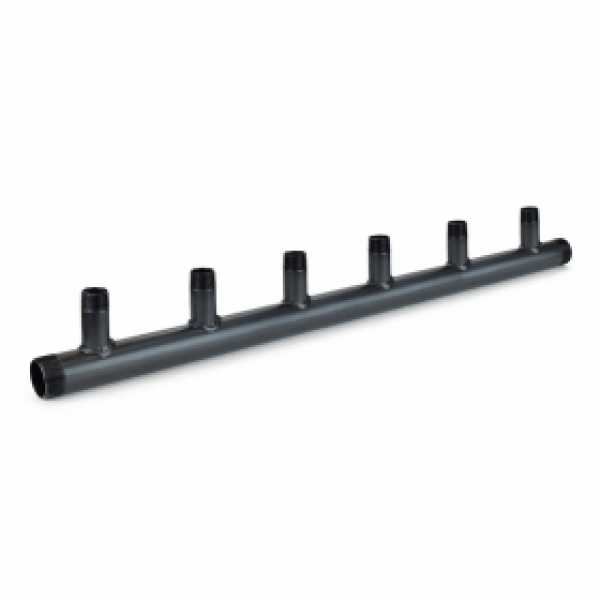 "(6-Branch) Boiler Header Manifold, 1-1/2"" Trunk x 1"" Outlets, Threaded"