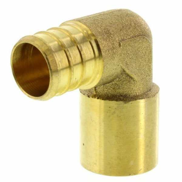 3/4' PEX x 3/4' Copper Fitting Brass Elbow (Lead Free)