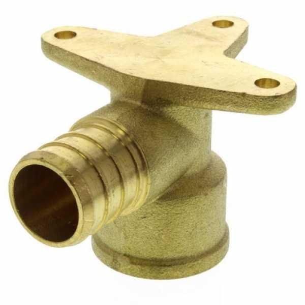 3/4' PEX x 1/2' NPT Brass Drop Ear Elbow (Lead Free)