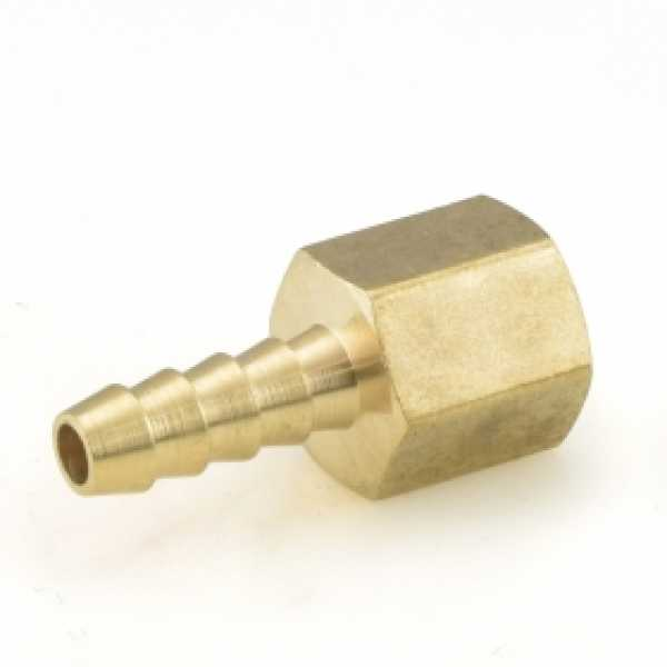 "1/4"" Hose Barb x 1/4"" FIP Brass Adapter"