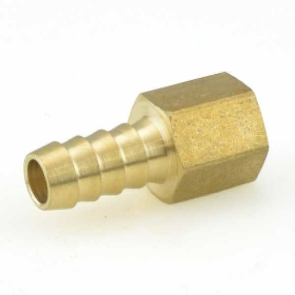 "3/8"" Hose Barb x 1/4"" FIP Brass Adapter"