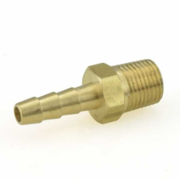 "3/16"" Hose Barb x 1/8"" MIP Brass Adapter"