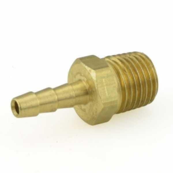 """3/16"""" Hose Barb x 1/4"""" MIP Brass Adapter"""