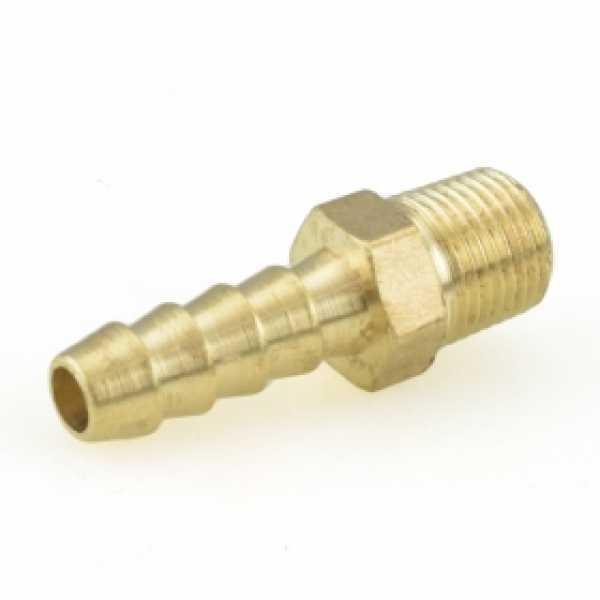 """1/4"""" Hose Barb x 1/8"""" MIP Brass Adapter"""