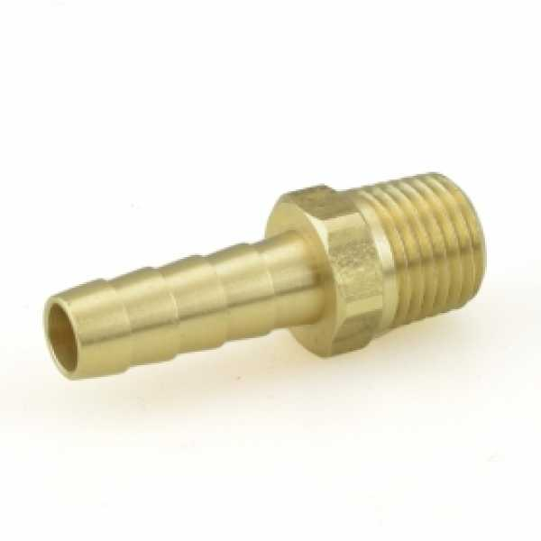 """5/16"""" Hose Barb x 1/4"""" MIP Brass Adapter"""