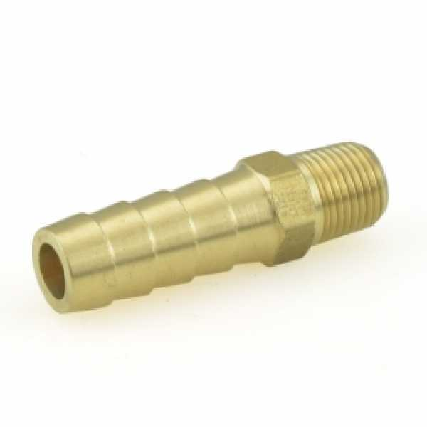 "3/8"" Hose Barb x 1/8"" MIP Brass Adapter"