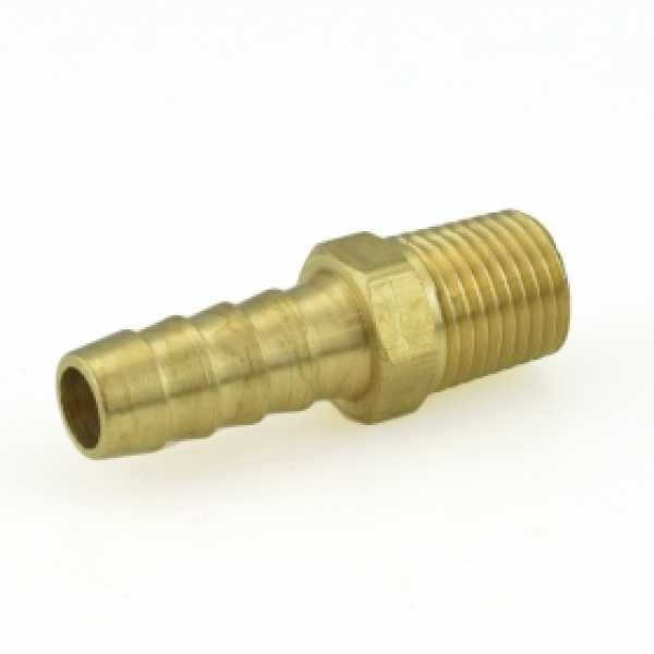 "3/8"" Hose Barb x 1/4"" MIP Brass Adapter"
