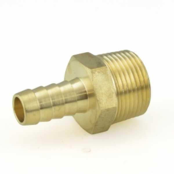 """1/2"""" Hose Barb x 3/4"""" MIP Brass Adapter"""